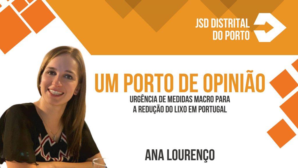 Urgência de medidas macro para a redução do lixo em Portugal